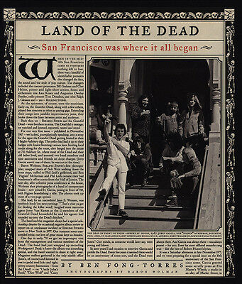 1995 LAND OF THE GRATEFUL DEAD 2 Page Magazine Photos & Article