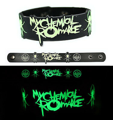 MY CHEMICAL ROMANCE Rubber Bracelet Wristband Glows in the Dark