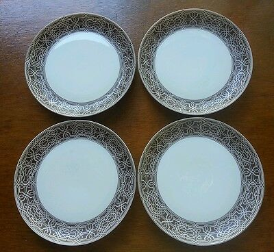 "Block China ""alhambra"" 7 7/8"" Salad Plates - Set Of 4 - Excellent"