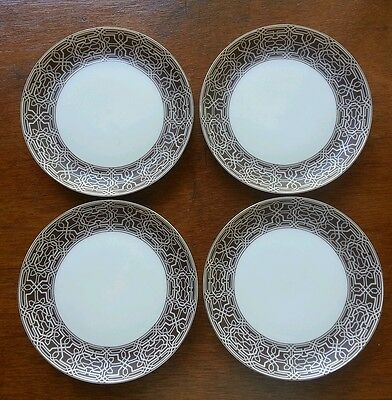 "Block China ""alhambra"" 6 1/8"" Bread & Butter Plates - Set Of 4 - Excellent"