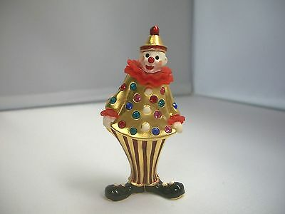 Estee Lauder 2001 Solid Perfume Compact Circus Clown Pleasures Gorgeous ~ Full