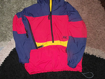 HELLY HANSEN MENS PACKABLE RAINPROOF JACKET HIKING/CAMPING sz.S EXCELLENT COND!