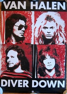 "VAN HALEN - DIVER DOWN  ""Original Warners Brother Records Promo Poster"""