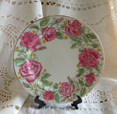 """Lenox Flower Blossom plate, 8 3/8"""", Rose, Suzanne Clee."""
