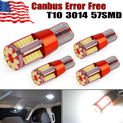 4x Super White Canbus T10/T15  57SMD Led Backup Reserve Light Bulbs W5W 168 2825