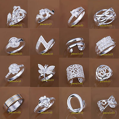 New Fashion Styles Xmas Jewelry Ladys Mens Ring Cycle 925 Silver Beautiful Rings