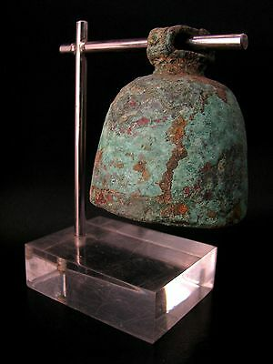 Very Old & Most Rare Ancient Temple Bronze Bells With Acrylic Stand Don't Miss