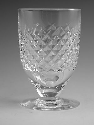 """WATERFORD Crystal - ALANA Cut - Footed Tumbler Glass / Glasses - 3 3/4"""""""