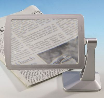 Mini Stand Magnifier Hands Free Magnification Reading Aid Magnifying Glass 2X