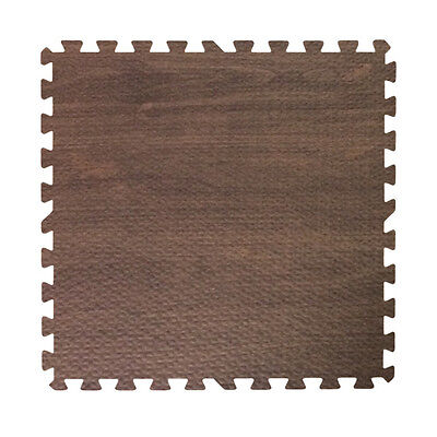 48 ft walnut dark wood grain interlocking foam puzzle tiles mat puzzle flooring
