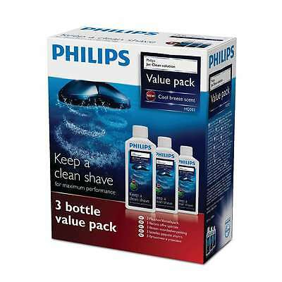 Philips HQ203 300ml Jet Clean Salon Shaver Cleaning Solution Refill Pack of 3