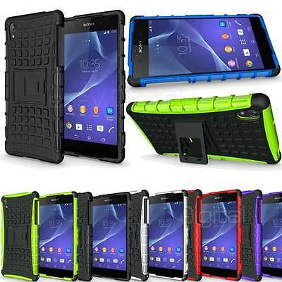 Heavy Duty Armour Shock Proof Hard Case Cover for Sony experia Z3 Compact Phone
