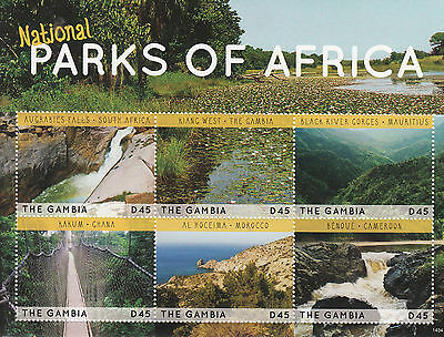 Gambia 2014 MNH National Parks of Africa 6v M/S Augrabies Falls Kakum Benoue