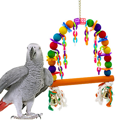 CHAIN SWING BIRD TOY cage toys cages conure eclectus parrot african grey amazon