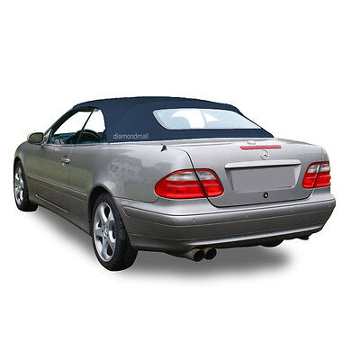 NEW Mercedes Benz CLK Series 1999-2003 Convertible Soft Top Blue Stayfast Cloth