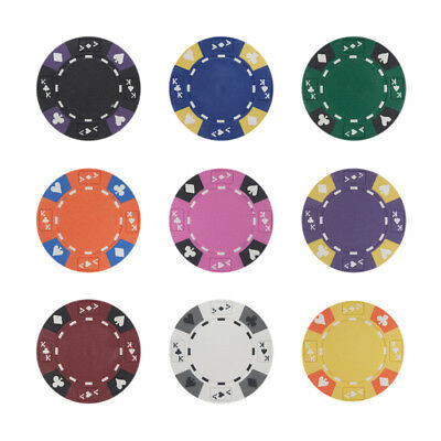 New Bulk Lot of 1000 Ace King Suited 14g Clay Casino Poker Chips - Pick Chips!