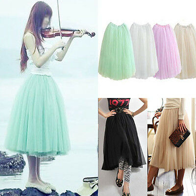 Princess 5 Layered Tulle Dancewear Party Bouffant Skirt Dress Au Seller Dr097
