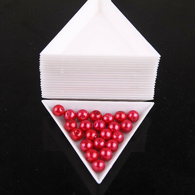10pcs White Plastic Environmental PP Triangle Tool Jewelry Beads Jewelry Boxes