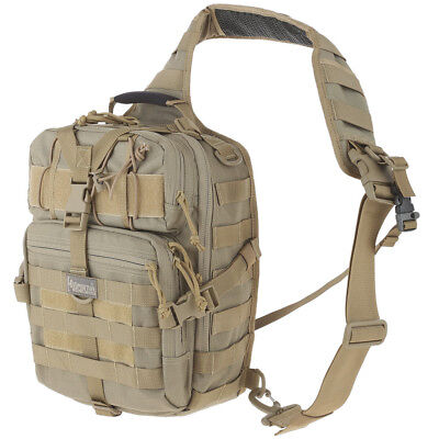 Maxpedition Malaga Gearslinger Military Shoulder Bag Molle Combat Day Pack Khaki