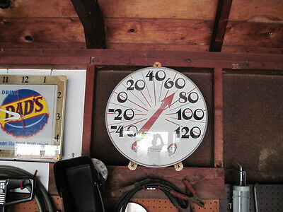 1950'S VERY LARGE INDOOR / OUT DOOR THERMOMETER