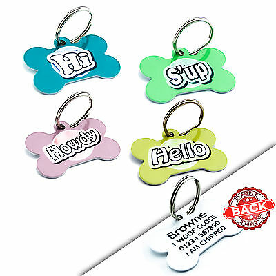 Dog Cat Puppy ID Tag Disc Aluminium Tags Name Discs - Engraved FREE