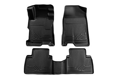 2004-2009 Toyota Prius Husky WeatherBeater Front & 2nd Row Black Floor Liners