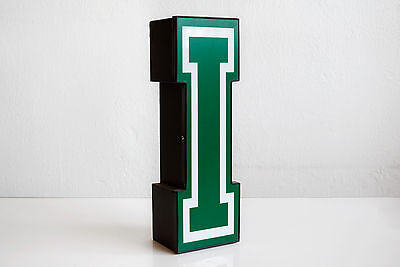 "Vintage Varsity Channel Letter ""I"" Decorative Industrial Wall Art"