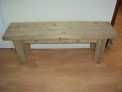 Quality Handmade Garden-kitchen-Dining-utility Wooden Bench Sturdy And Solid 3FT