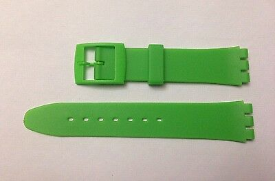 Replacement 17mm (20mm) Watch Strap for SWATCH - Green Resin