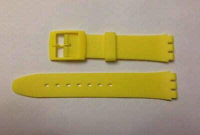 Replacement 17mm (20mm) Watch Strap for SWATCH - Yellow Resin