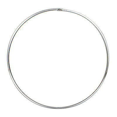 Women's Love Simple Smooth Choker Collar Necklace in Silver Stainless Steel