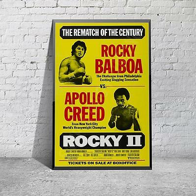 Rocky 2 Stallone Boxing  Movie Film Poster Print Picture A3 A4
