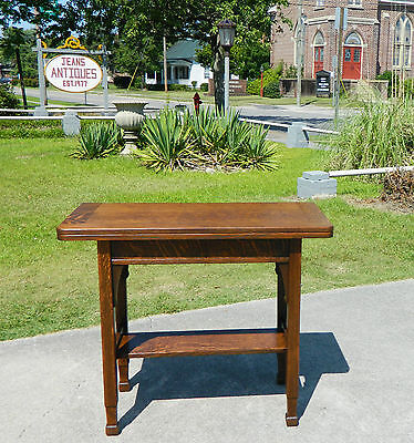 Mission~Arts and Crafts Tiger Oak Flip Top Game Table