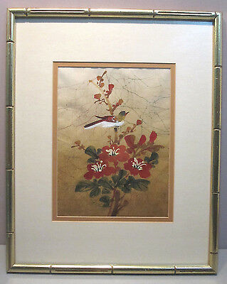 PAUL CHAN BATIK ON SILK__Original signed matted and framed__ExC__SHIPS FREE