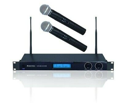 Wireless microphone system 2x microphones Omnitronic VHF-450