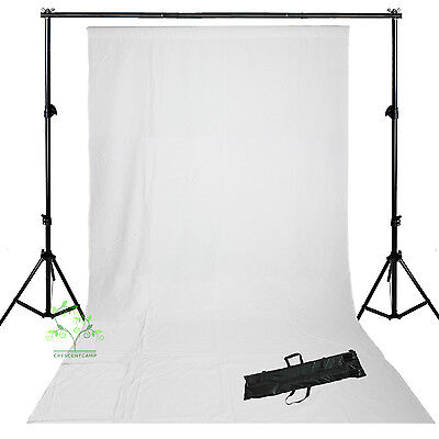 Cotton Muslin White Backdrop Background Support Stand Photo Studio Kit Set  uk
