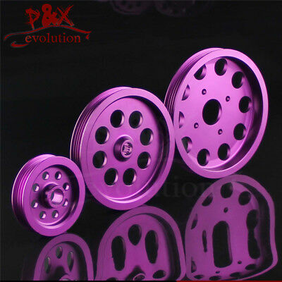 3pcs Light-weight Crank Pulley Kits For Nissan skyline GTS GTR RB20 RB25 RB26 PL