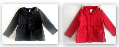 new Baby Girls cute pink bow black red jackets cardigans age 1 2 3 4 5 6 years