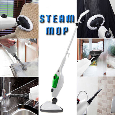 Quest 12in1 1300w Steam Mop Hand Held Cleaner Steamer Floor Carpet Washer Window
