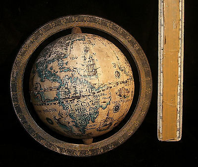 Antique Looking Old Globe of the earth Good Collectible