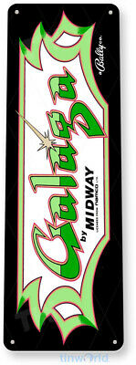 TIN SIGN Galaga Arcade Shop Game Room Art Marquee Console Metal Décor A401