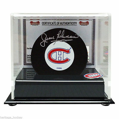 Jean Beliveau Montreal Canadiens Authentically Signed Puck