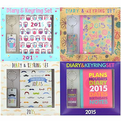 New 2015 Personal Pocket Diary & Keyring Set Travel Journel Organiser Note Pad