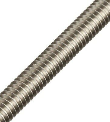 "Stainless Steel Allthread Threaded Rod, 1/2-13 Threads, 24"" Long"