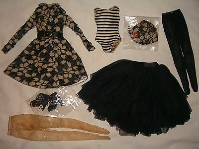 DARK FLOWERS Ellowyne Wilde Tonner Doll OUTFIT Coat Skirt Shoes Lizette Prudence