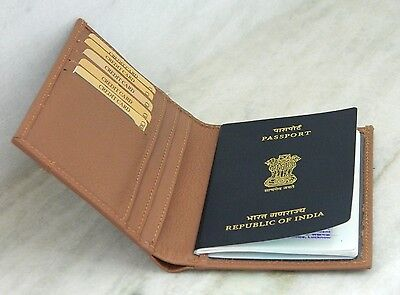 Genuine Leather Passport Holder and Bussiness Credit Card Case Travel Case