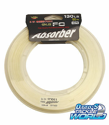YGK Galis FC Absorber 60m, 50m Fluoro Carbon Leader BRAND NEW at Otto's