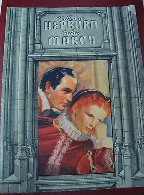 "Old Vintage Hollywood movie Booklet of movie ""Mary of Scotland"" from USA 1937"
