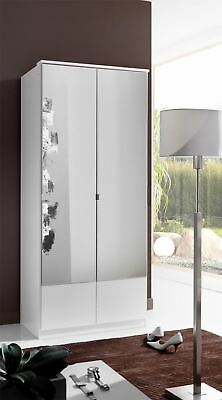 German Wimex Imago White 2 Door 90cm Wardrobe with mirrors