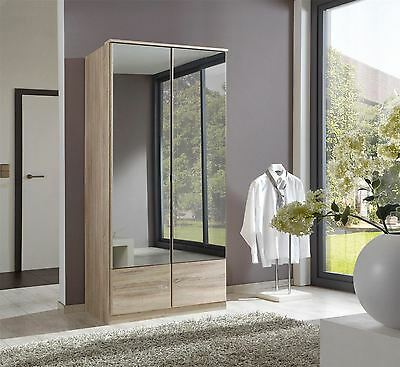 German Wimex Imago Oak 2 Door 90cm Wardrobe with mirrors